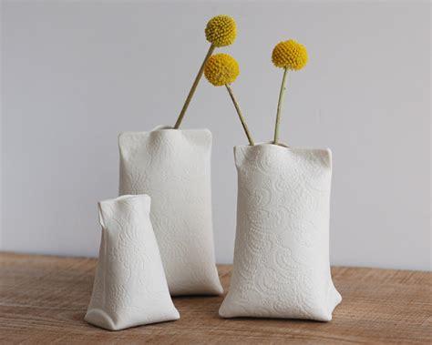 Handmade Porcelain - contemporary porcelain bud vase handmade ceramic mini