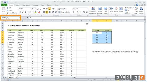 excel tutorial nested if function excel tutorial how to replace nested ifs with vlookup