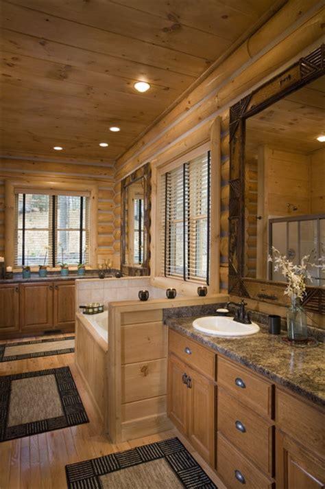 bathrooms in rustic log home eclectic bathroom