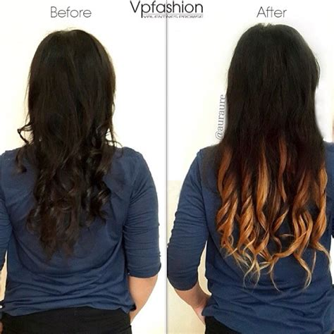 ombre 22inch hair extentions 22 inches wavy two tone ombre clip on hair extensions