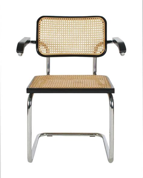 cesca armchair mid century modern set of four marcel breuer cesca cane