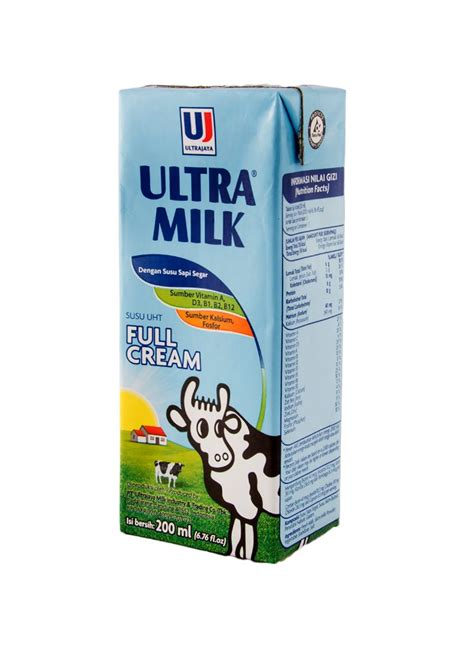 Ultra Kotak Ultra Uht Steril Slim Plain Tpk 200ml Klikindomaret
