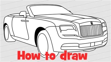 cartoon rolls royce how to draw a car rolls royce dawn youtube