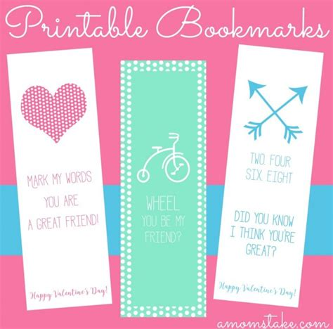 printable awesome bookmarks 3 printable valentine s day bookmarks a mom s take