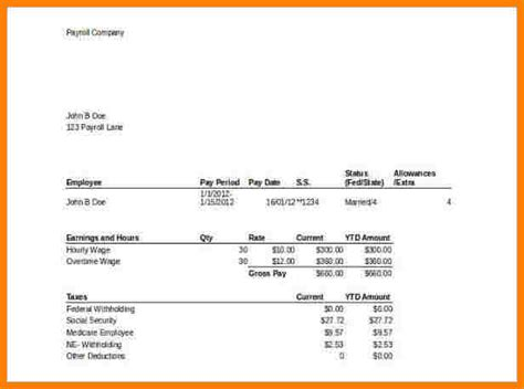 payroll pay stub template expin franklinfire co