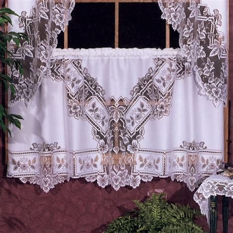 heirloom lace curtains heritage lace heirloom tier modern curtains by hayneedle