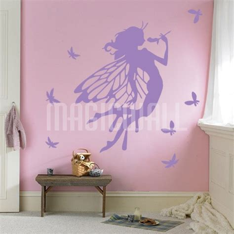 Wall Stickers Beautiful Fairies Interior Home Wall Wall Decals Canada Flower Dragonfly Wall Stickers