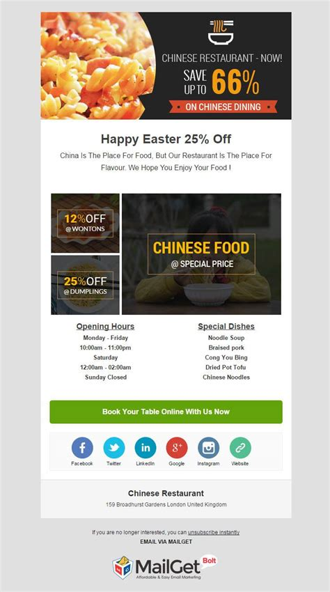 catering email template 10 best restaurant email templates for food points