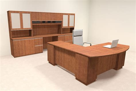Contemporary L Shaped Desk 4pc Modern Contemporary L Shaped Executive Office Desk Set Bh Mil L7 Ebay