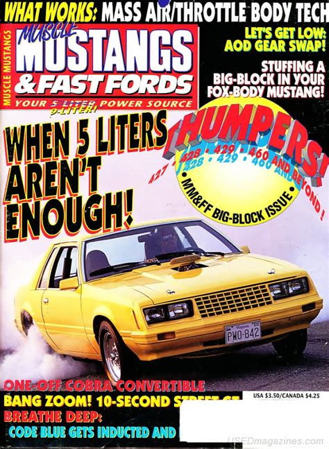 mustangs and fast fords back issues backissues mustangs fast fords june 1994