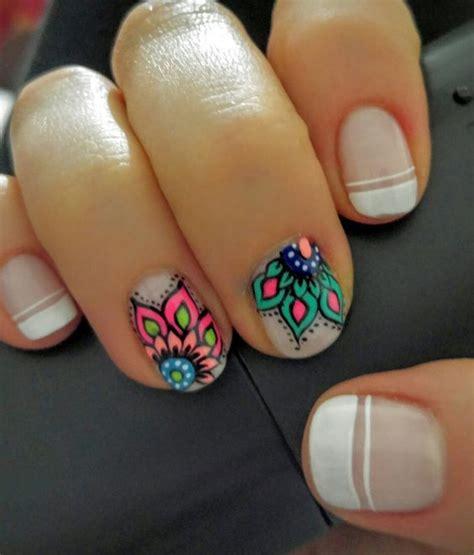 decorados de uñas 2018 para pies mandala nail art idea arte de u 241 as colombia mis u 241 as