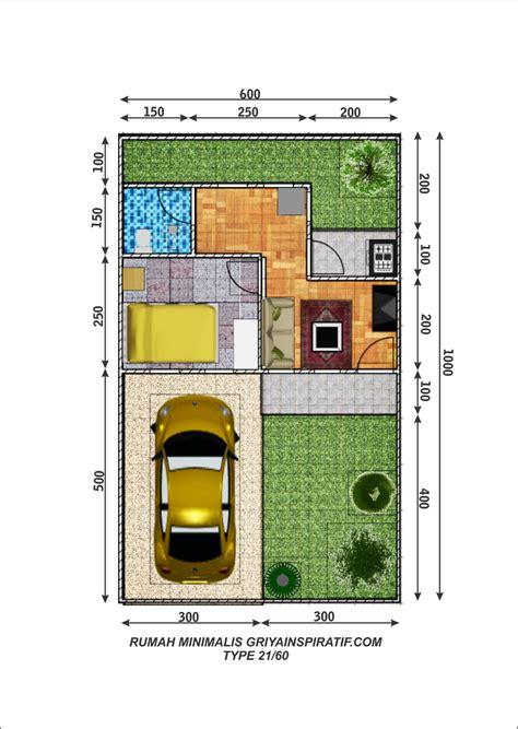 gambar denah rumah minimalis type 21 60 rumah minimalis