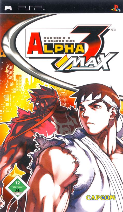 psp themes street fighter street fighter alpha 3 max 2006 psp box cover art