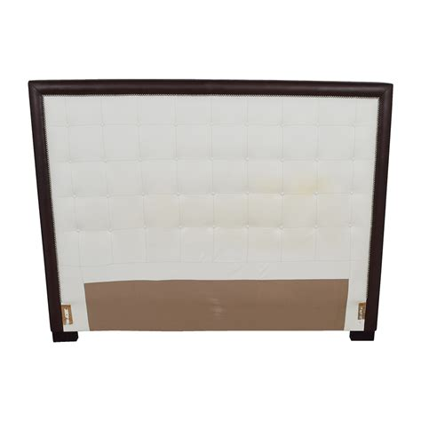 wooden king headboard 51 off custom white tufted leather nailhead and wood