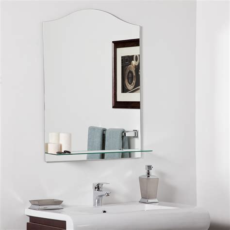 Decor Wonderland Abigail Modern Bathroom Mirror Beyond Modern Mirrors Bathroom
