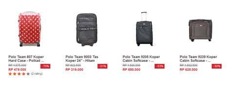 Berapa Harga Koper Merk Polo daftar harga koper polo kecil kita punya