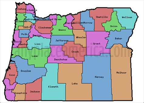 Search Oregon State Map Of Oregon State Counties 28 Images A Large Detailed Oregon State County Map