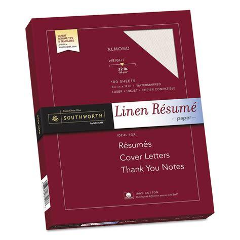 southworth sourd18acfln 100 cotton linen resume paper 32lb 8 1 2 x 11 almond 100 sheets