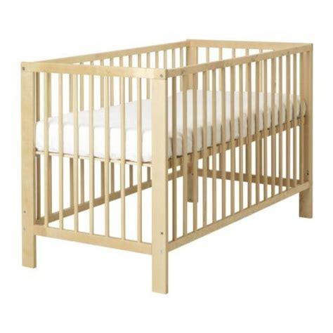 Ikea Crib In Natural Wood Ikea Mini Crib