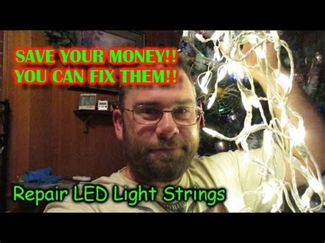 christmas light troubleshooting and diagnostics led light string repair