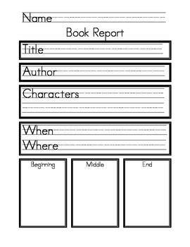Free Book Report Templates For Kindergarten My Item On Teacherspayteachers Kindergarten