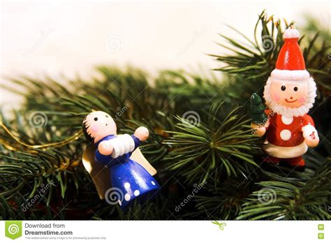 traditional german christmas ornaments royalty free stock