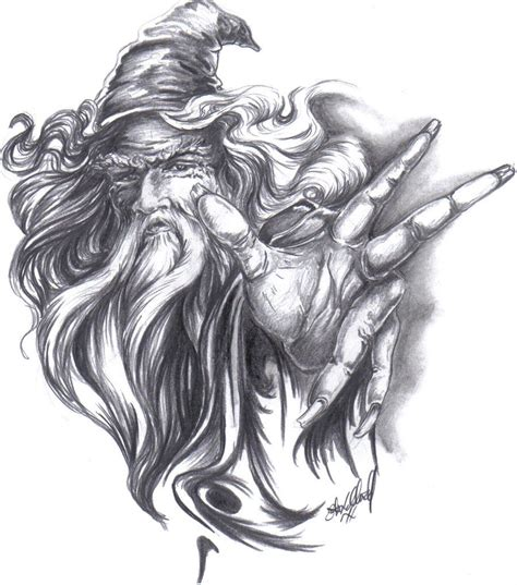 white wizard tattoo wizard2009 by machtool on deviantart