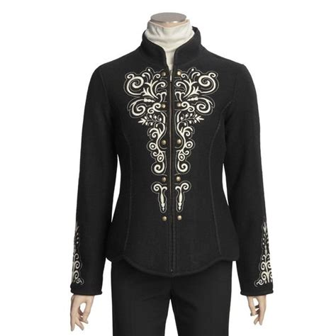 design an embroidered jacket icelandic design kiska boiled wool jacket embroidered