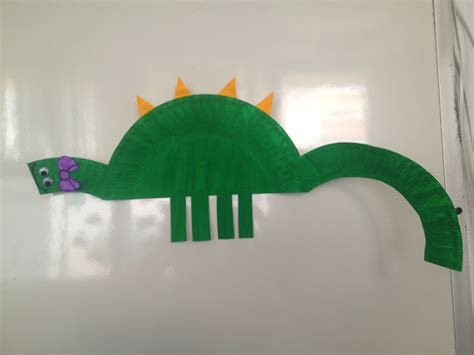 Paper Dinosaur Craft - paper plate dinosaur craft junior