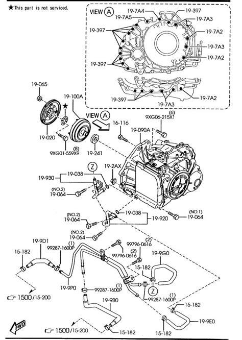 transmission control 1997 mazda mx 6 free book repair manuals mazda automatic transmission torque converter oil pump pipings 6 speed