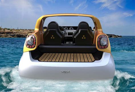 the open boat was inspired by which of the following daimler launches hibious smart vehicle concept