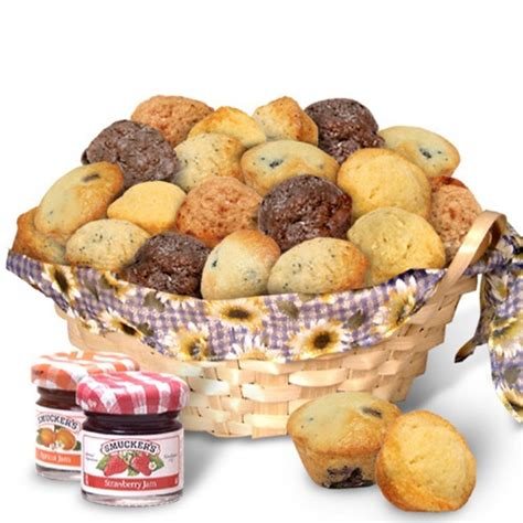 delighted today to have eight additional delicious muffins to just jammin muffin gift basket