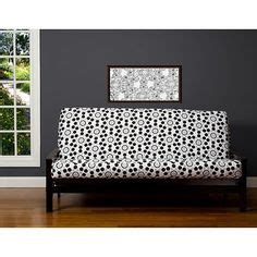 polka dot futon cover vintage retro mid century danish teak daybed sofa bed