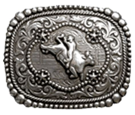 wrangler oblong bull rider belt buckle with display stand