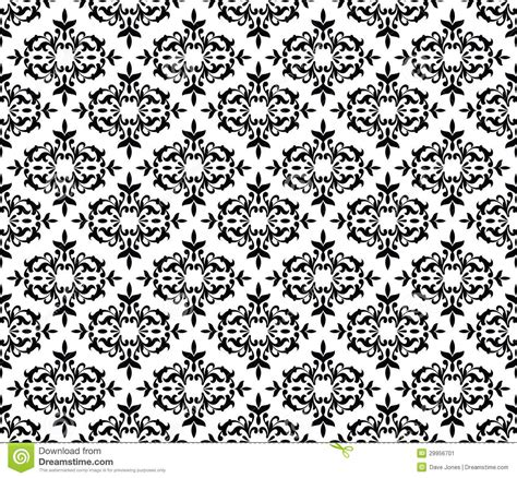 black and white wall pattern black and white seamless floral wallpaper stock image
