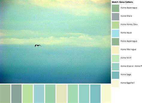 relaxing color schemes happy turtle color palette for a kona solids quilt