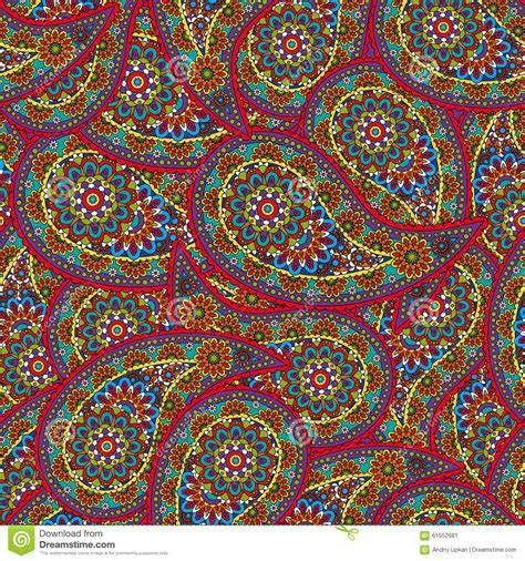 ethnic pattern meaning vector flower paisley seamless ethnic pattern element