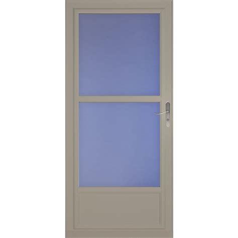 Tempered Glass Door Larson 32 In X 81 In Sandstone Tradewinds Mid View Tempered Glass Door Lowe S Canada