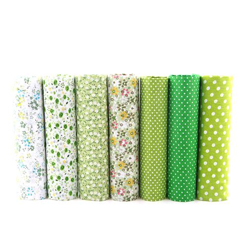 Patchwork Bundles - new green floral patchwork cotton fabric quarter