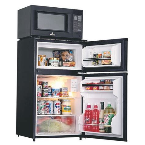 Room Fridge by Room Microwave Refrigerator Freezer Combo Appliance