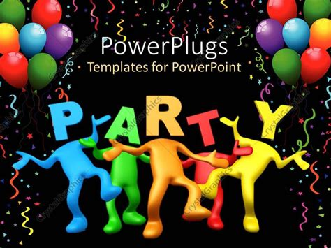 microsoft powerpoint birthday themes powerpoint template party celebration balloons birthday