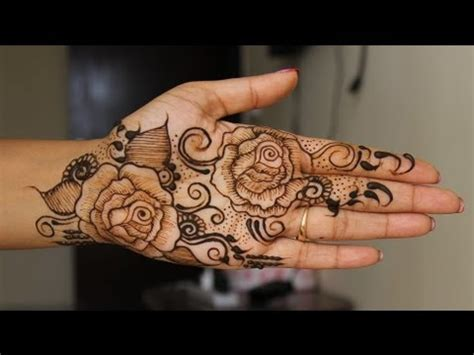 full hand navratri special rose henna design learn
