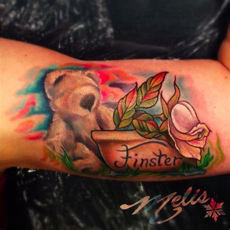 melissa fusco colorado tattoo artist memorial dog rose tattoo