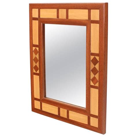 mid century modern mirrors mid century modern two tone teak mirror for sale at 1stdibs