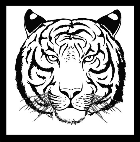 coloring pages of tiger face easy tiger tattoo coloring pages