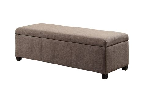 Linen Storage Ottoman Bench Simpli Home Avalon Linen Rectangular Storage Ottoman Bench Large Fawn Brown