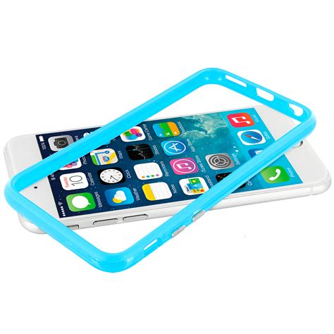 Kp1595 Iphone 6 6s Colorful Baby Pink Tempered Gla Kode Tyr1651 baby blue tpu bumper frame metal button cover for