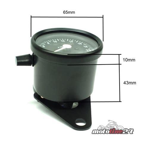 Motorrad Kontrollleuchten by Mini Tacho Tachometer Schwarz Mit Kontrollleuchten