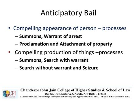 Anticipatory Search Warrant Crpc Ppt