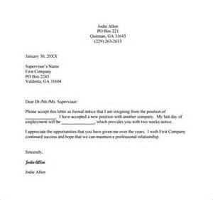Formal Letter Of Resignation Exle by Formal Resignation Letter Template 10 Free Word Excel Pdf Format Free Premium